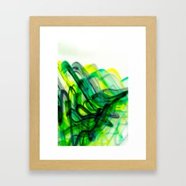 Green Flow Framed Art Print