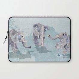 Elephants In Blue Laptop Sleeve