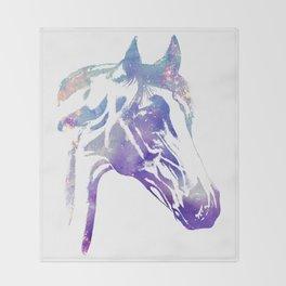Galaxy Horse Throw Blanket