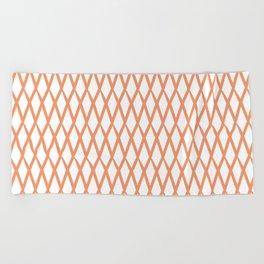 net orange Beach Towel