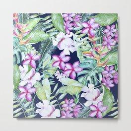 Tropical Garden Blue #society6 #buyart Metal Print