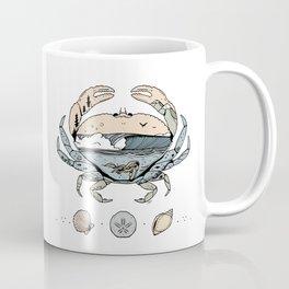"""""""Crabby Day"""" // Beach Wave Underwater Art Coffee Mug"""