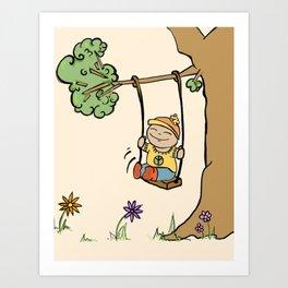 Swing. Art Print