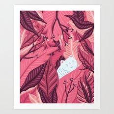 Fern Kitty Art Print