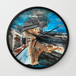 The Weary Blues - City Lights Project Wall Clock