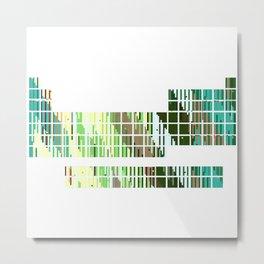 Periodic Table, Pixilated Color Blocks Metal Print