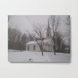 Snowy Vermont Scene Metal Print