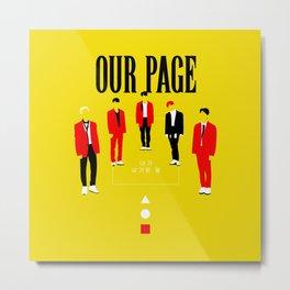 SHINee - Our Page Metal Print
