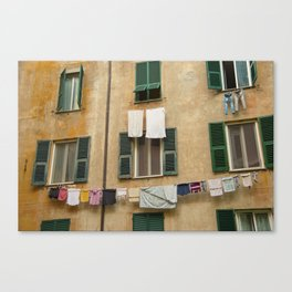 Hanging laundry Canvas Print
