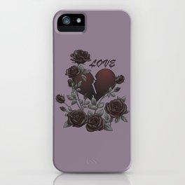Black Roses Broken Heart Lost Love iPhone Case
