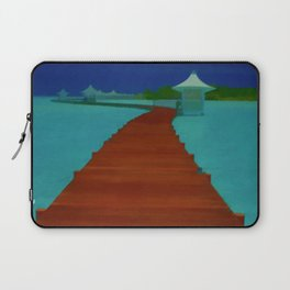 Maldives Travel Poster Laptop Sleeve