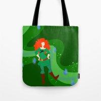 merida Tote Bags featuring Merida by Eva Duplan Illustrations
