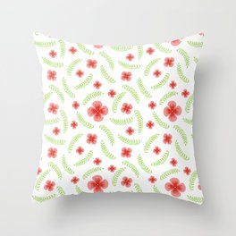 Happy floral pattern Throw Pillow