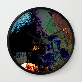 Ripples of Colour Wall Clock