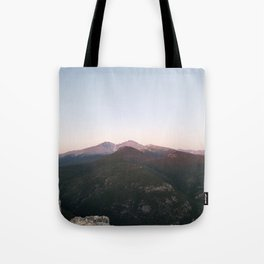 Longs Peak & Estes  Cone from Lily Mountain Tote Bag