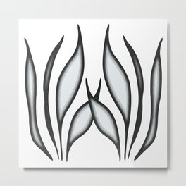 Stippling Metal Print