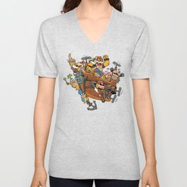 Father and His Children Unisex V-Neck
