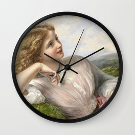 The Song Of The Lark 1903 By Sophie Gengembre Anderson | Reproduction Wall Clock