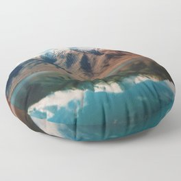 Film photo of New Zealand Glacier Landscape Floor Pillow