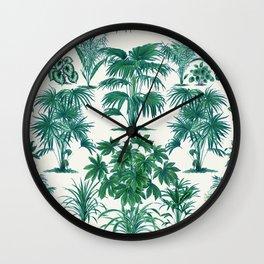 Exotic Tropical Palm Print Wall Clock