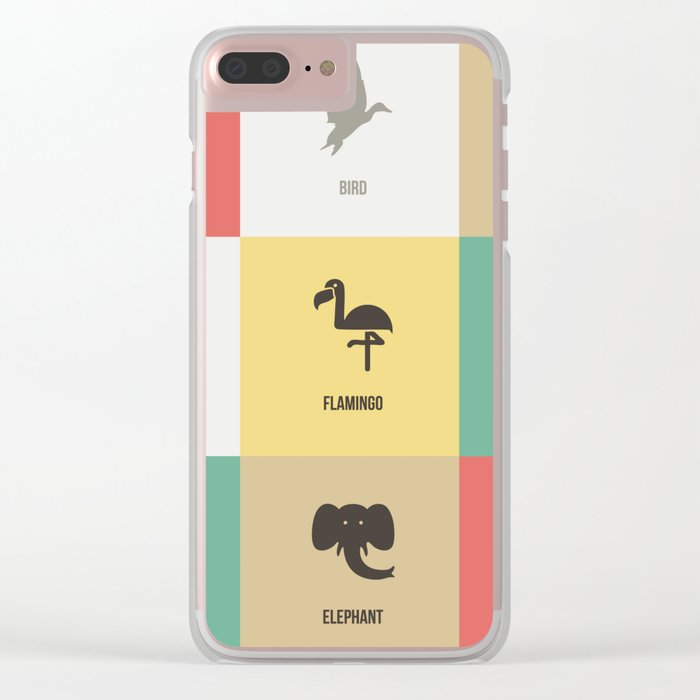 Animals colors Clear iPhone Case