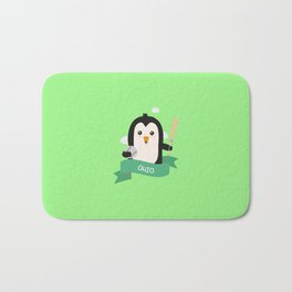 Baseball Penguin from OHIO  T-Shirt for all Ages Bath Mat