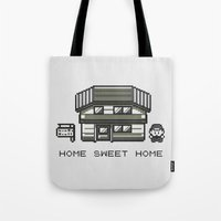 home sweet home Tote Bags featuring Home Sweet Home  by Zeke Tucker