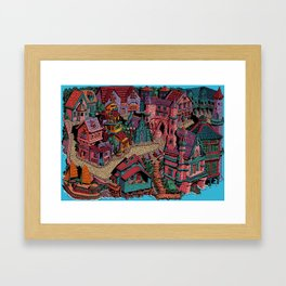 Capharnaüm City (Color) Framed Art Print