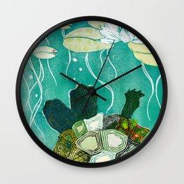 Two-Headed Turtle II Wall Clock