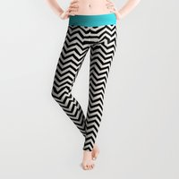 waves Leggings featuring Follow the Sky by Bianca Green