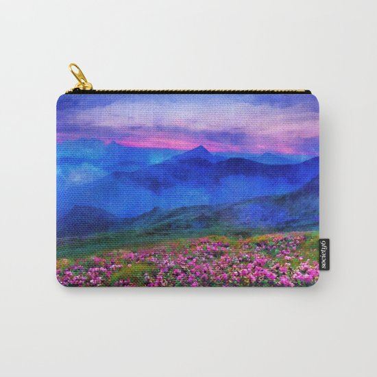 Flowering mountains in the clouds Carry-All Pouch