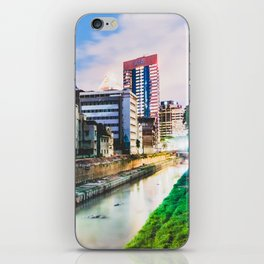On going rapid urbanization leads to river pollution. iPhone Skin