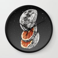 lunar Wall Clocks featuring Lunar Fruit by J.P Ormiston