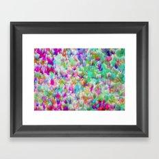 Neon Rain Framed Art Print