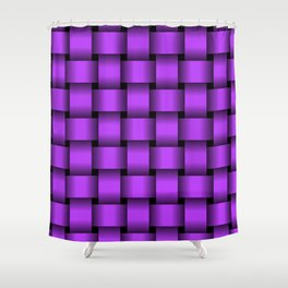 Large Light Violet Weave Shower Curtain