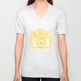 I Still Shoot Film Holga Logo - Reversed Yellow Unisex V-Neck