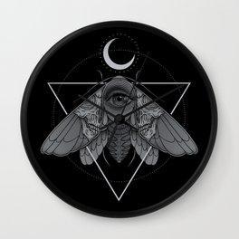 Occult Moth Wall Clock