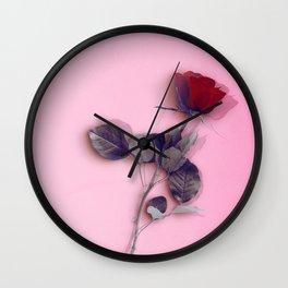 LA ROSE ROUGE Wall Clock