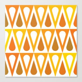 Geometric Pattern #57 (orange teardrop triangles) Canvas Print