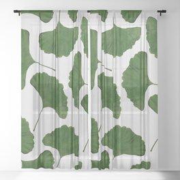 Ginkgo Leaf II Sheer Curtain