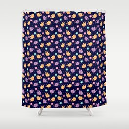 Freely Birds Flying - Fly Away Version 2 - Night Color Shower Curtain