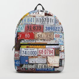 State License Plate Collage Backpack