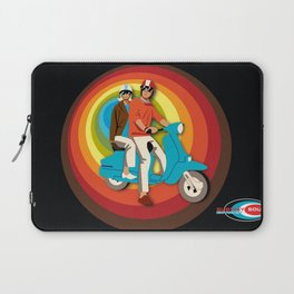 'Scooter Pair' Subway Soul by Dawn Carrington Laptop Sleeve