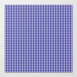 Mini Australian Flag Blue Gingham Check Plaid Canvas Print