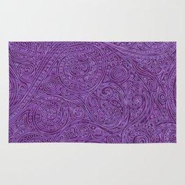 Lavender Spiral Pattern Rug