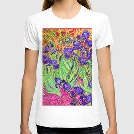 Van Gogh Purple Irises at St. Remy T-shirt