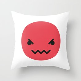 Emojis: Angry Throw Pillow