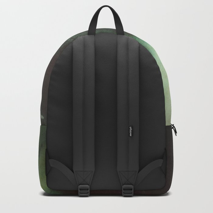 Morning dust on Mountains - Forest Wood Tree Backpack