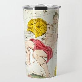 Sidney Hall - Urania's Mirror (1824) - Aquarius, Piscis Australis & Ballon Aerostatique Travel Mug