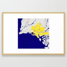 Minimalist Modern Map of Karachi, Pakistan 10 Framed Art Print